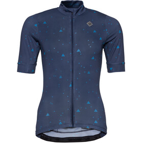 Triple2 Velozip Recycled Poly SS Jersey Women, peacoat